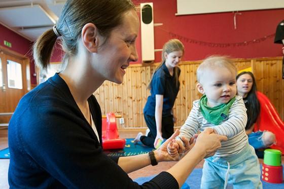 Ida Lindberg med dottern Elvira.